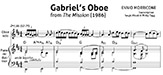 Gabriel's Oboe Transcription